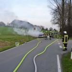brennender Pkw an der Permer Str.