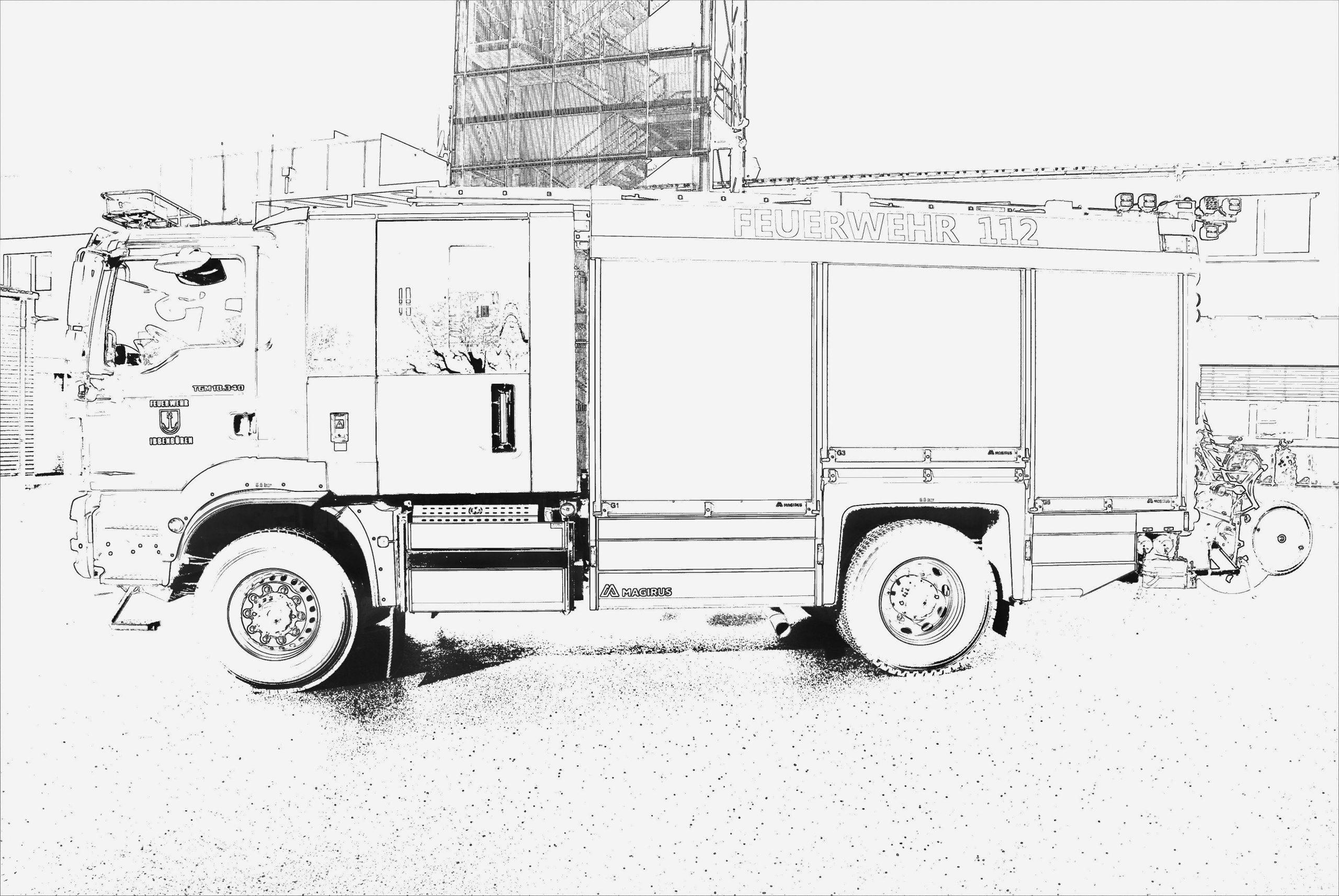 ausmalbilder feuerwehrauto  feuerwehr malvorlagen