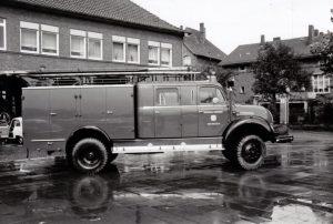 Das 1961 beschaffte LF16 mit Seilwinde